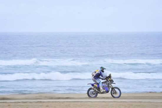 Van Beveren (Yamaha) in azione nella Dakar 2019