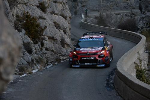 WRC19, Monte-Carlo. Roba da Chiodi, Ogier (Citroen) in Testa