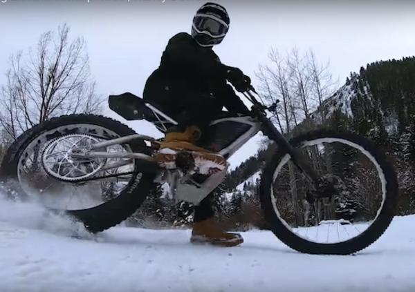 Harley-Davidson: due concept elettrici provati sulla neve