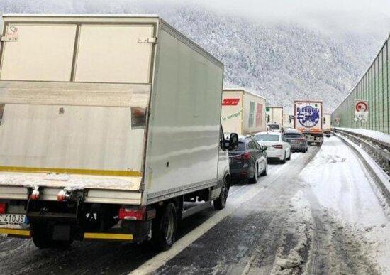 Maltempo: Brennero (A22) chiusa per neve