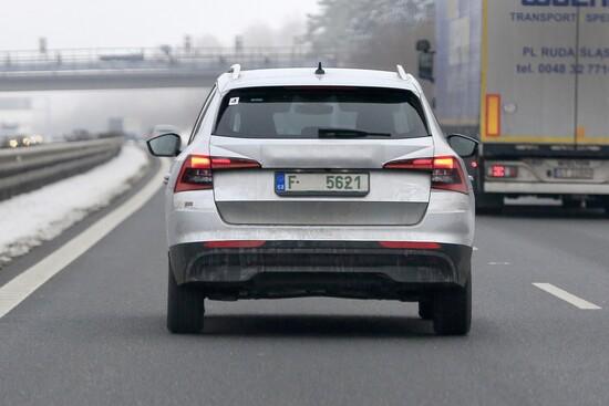 La parte posteriore del nuovo SUV Skoda Kamiq