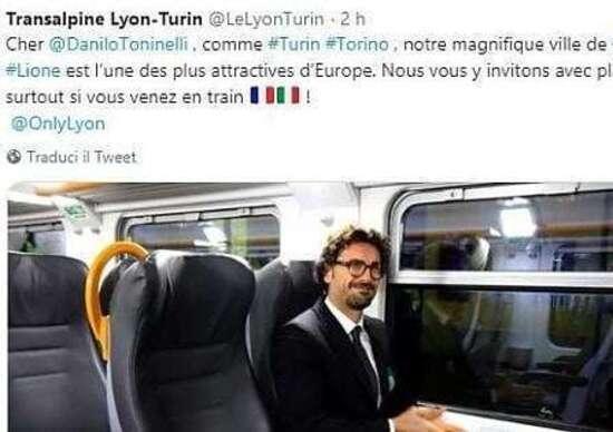 Tav, da Lione l'invito a Toninelli per raggiungere la città in treno