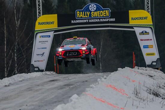 Un po' di salti anche al Rally di Svezia 2019
