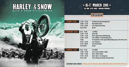 Harley & Snow: la gara sulla neve torna dal 15 al 17 marzo