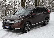 Honda CR-V 1500 VTEC 4x4, al Colle Braida con la neve