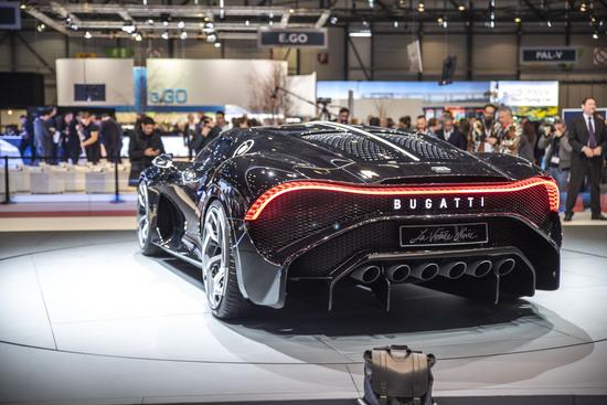Il posteriore della Bugatti La Voiture Noire