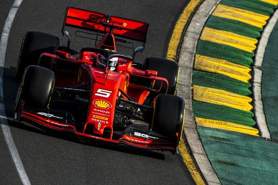 Sebastian Vettel scatterà dalla terza posizione in griglia in Australia