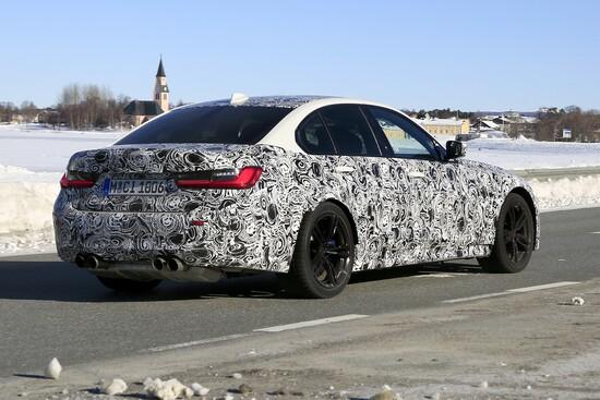 Il retro della futura BMW M3