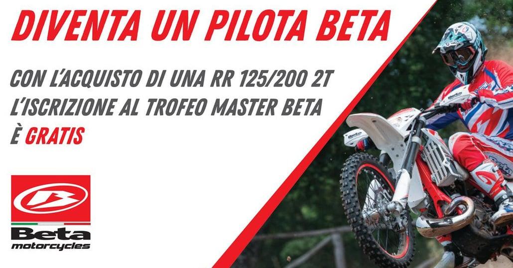 Trofeo Enduro Master Beta: in omaggio l'iscrizione a chi acquista una nuova moto