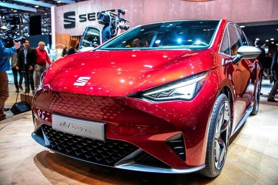La concept elettrica Seat el-Born al Salone di Ginevra 2019. Presto diventerà un modello prodotto in serie