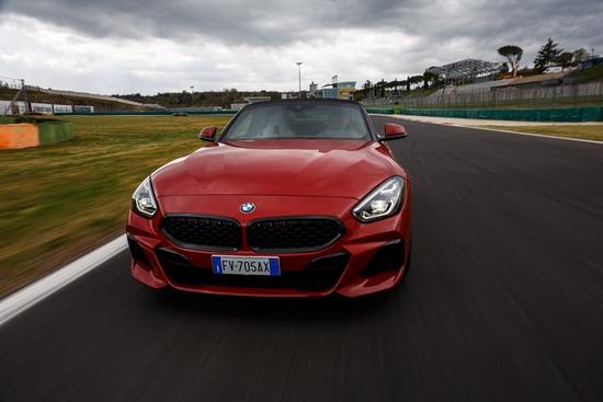 La BMW Z4 in pista