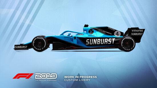 Una delle livree personalizzate che sarà possibile ricreare all'interno dell'editor di F1 2019