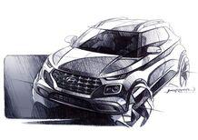 Hyundai Venue: primi bozzetti del nuovo SUV