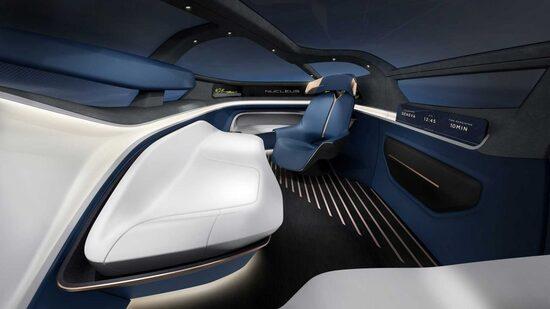 Gli interni di una concept car Icona