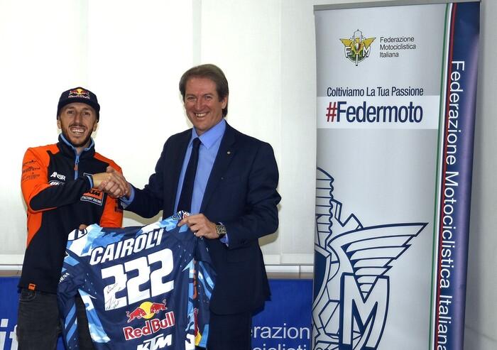 Il presidente con Tony Cairoli