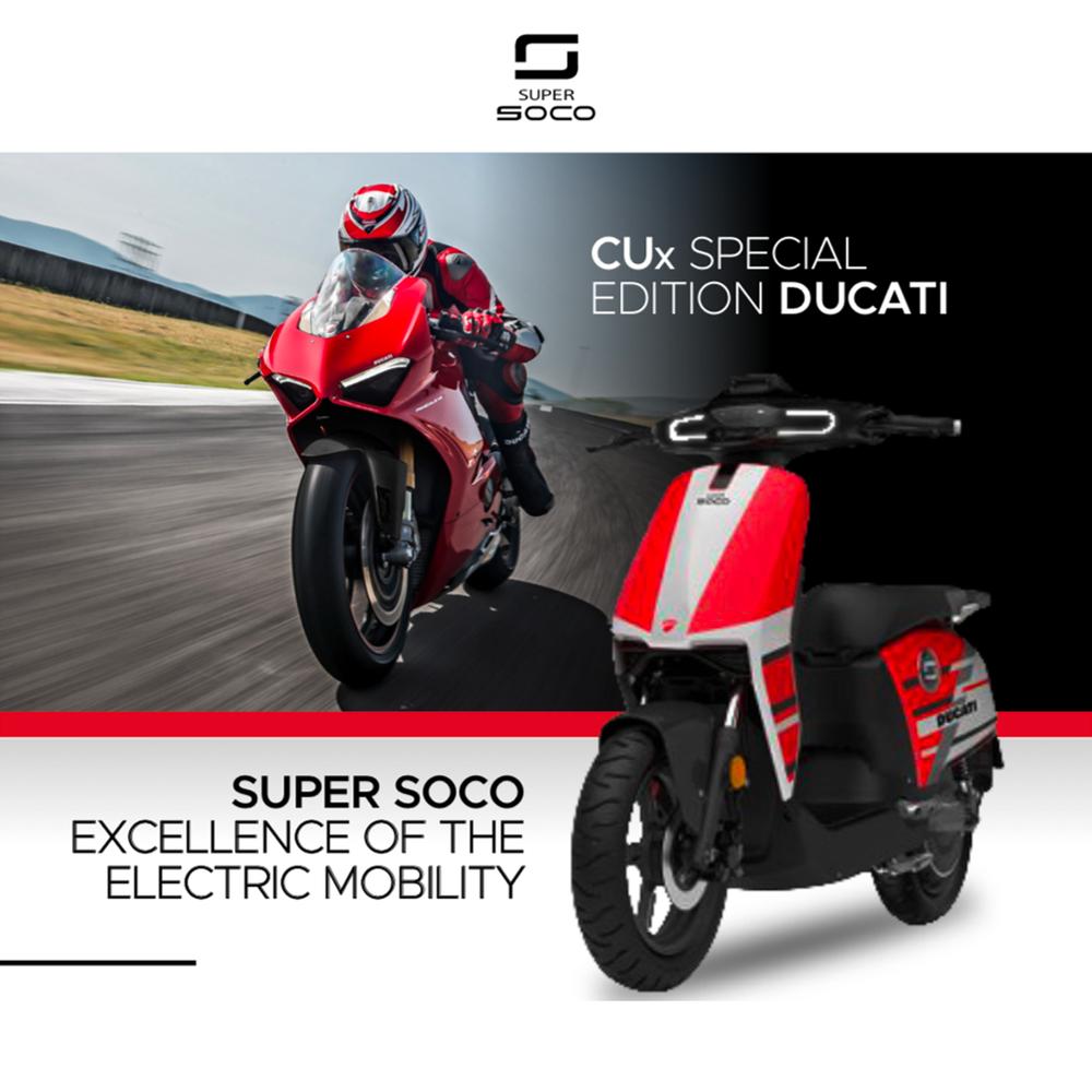 Super Soco lancia il CUx Special Edition Ducati