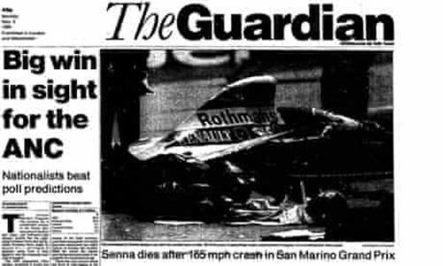 F1: Senna, 25 anni dopo: i titoli dei giornali dell'epoca (6)
