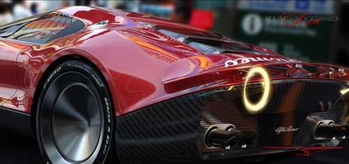 Alfa Romeo LEA, ipotesi sulla nuova 8C (3)