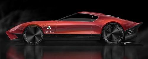 Alfa Romeo LEA, ipotesi sulla nuova 8C (8)