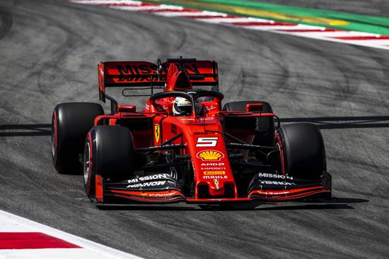 Sebastian Vettel scatterà dalla terza posizione in Spagna