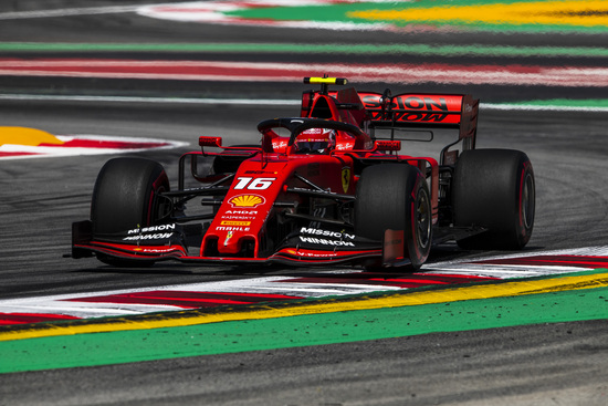 Quinta posizione per Charles Leclerc in Spagna
