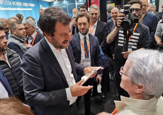 Viabilità bresciana: rallentamenti in Statale per vedere Salvini
