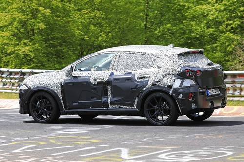 Ford Puma ST, le foto spia al Nürburgring (5)