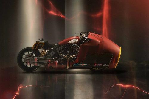 IndianxWorkhorse per le gare di accelerazione. Con Randy Mamola in sella (2)