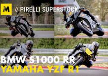 BMW S1000RR e Yamaha YZF-R1 stock Pirelli: le moto di Luca Salvadori e Fabrizio Lai