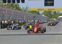 F1, GP Canada 2019: la partenza della gara [Video]
