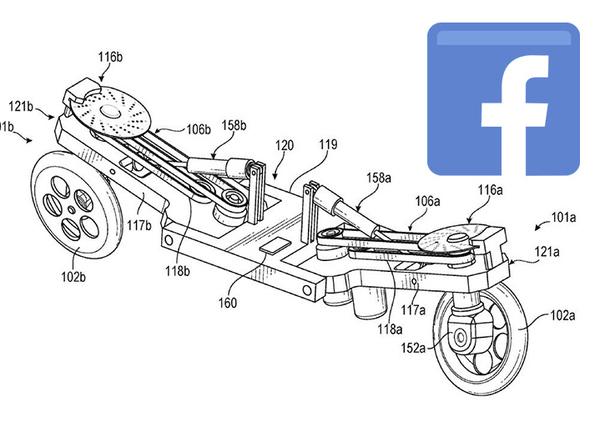 Facebook brevetta un mezzo elettrico robotico a trazione integrale
