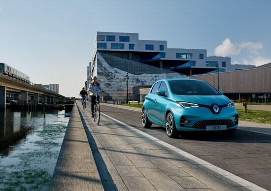 Renault Zoe restyling, l'autonomia sale a 390 km
