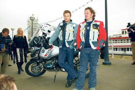 Ewan McGregor e Charlie Boorman nella tappa londinese di Long Way Round