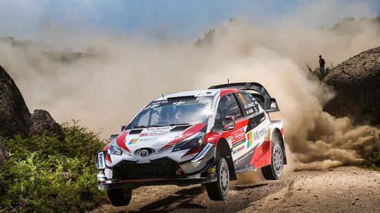 La Yaris WRC+ impegnata sui campi di gara del mondiale rally