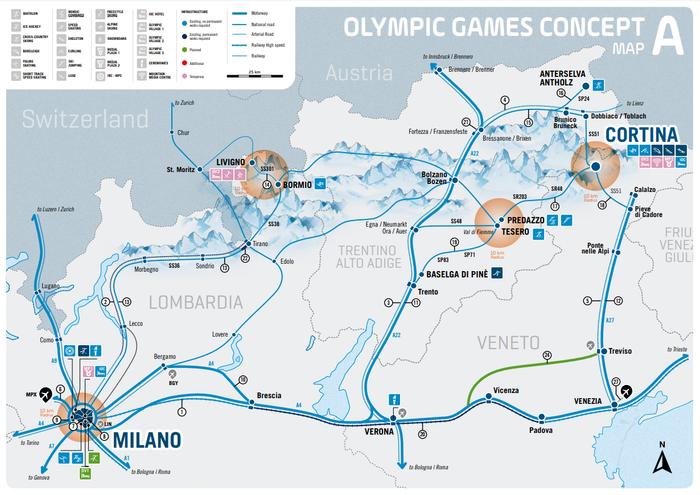Il piano delle arterie stradali e ferroviarie interessate dai Giochi Invernali 2026