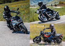 Le replicanti: Kawasaki Z900RS vs Suzuki Katana 1000 vs Triumph Speed Twin