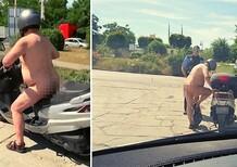 Guidatori esasperati dal caldo record in tutta Europa: polizia tedesca controlla scooterista nudo [foto]