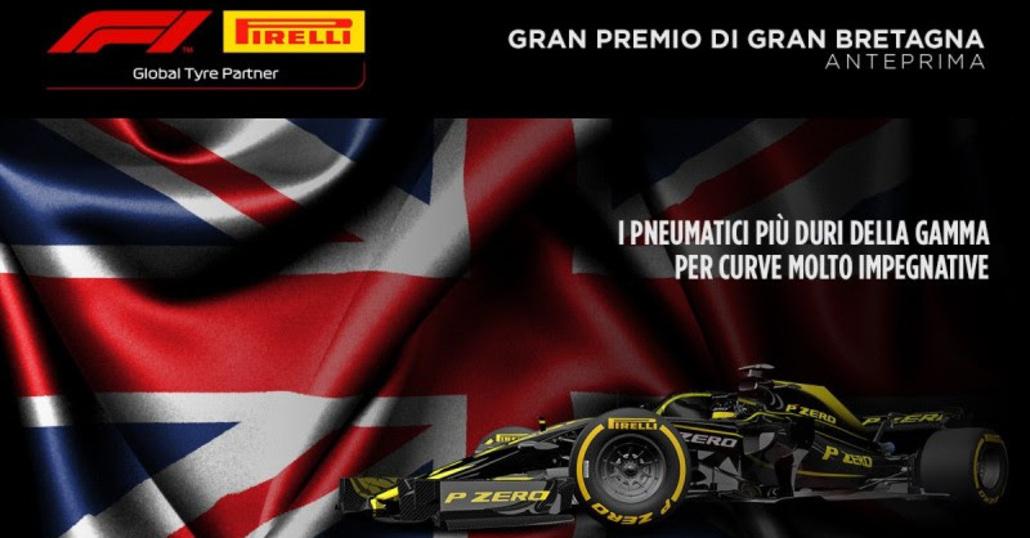 F1, GP Gran Bretagna 2019: le gomme Pirelli a Silverstone