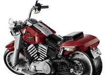 Harley-Davidson Fat Boy. Modello in scala di Lego Creator Expert
