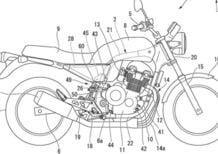 """Honda, brevetto di una """"quattro cilindri"""" raffreddata ad aria: futura CB1100?"""