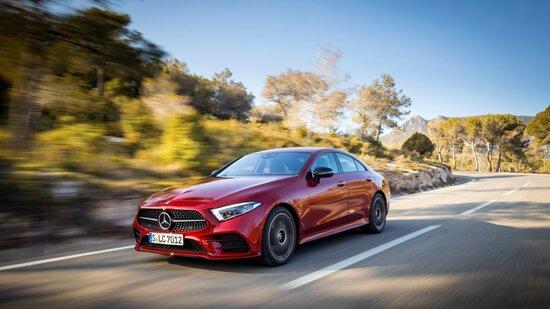 La Mercedes CLS su strada