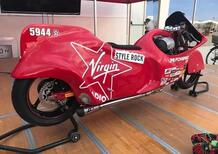 Christine, la moto (a GPL) di Dino Romano per il nuovo record a Bonneville