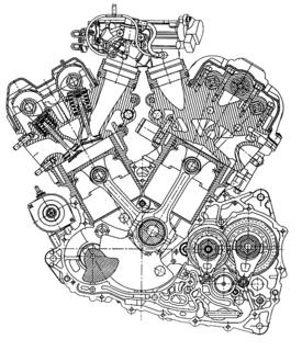 """Il bicilindrico Rotax montato sulla Aprilia RSV 1000, entrata in produzione alla fine degli anni Novanta, era dotato di un albero di equilibratura principale nel basamento più un albero """"secondario"""" nella parte superiore della testa verticale"""