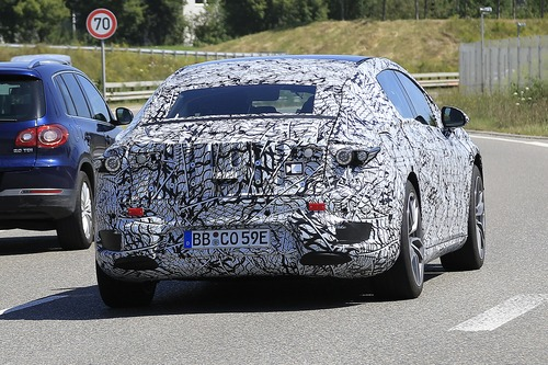 Mercedes EQS, le foto spia  (4)