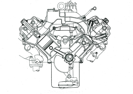 Per i suoi motori a otto cilindri la Chrysler è passata dalla architettura in linea a quella a V nel 1951. A distinguerli dagli altri V8 americani era la disposizione delle valvole, che consentiva di avere camere di combustione emisferiche