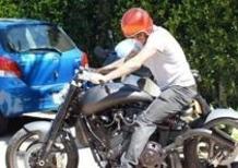 Beckham in vacanza sulla sua nuova moto