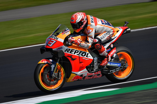 MotoGP 2019 a Silverstone. Marc Marquez in pole position