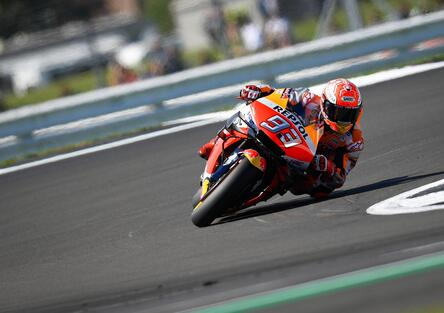 MotoGP 2019 a Silverstone. Marc Marquez in pole position