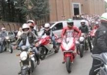 L'ultimo saluto dei motociclisti a Claudio Castiglioni