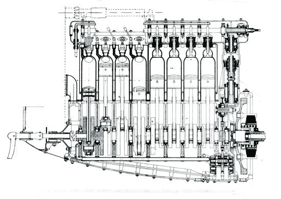 2-Quando è apparso, nel 1921, il motore della Fiat 402 costituiva quanto di meglio la tecnica da GP potesse offrire. L'albero a gomiti poggiava su 10 supporti e i cuscinetti di banco e di biella erano a rotolamento. La cilindrata era di 3 litri e la potenza di 120 CV a 4400 giri/min